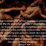 Attis: Born at midnight on the 24th day of December