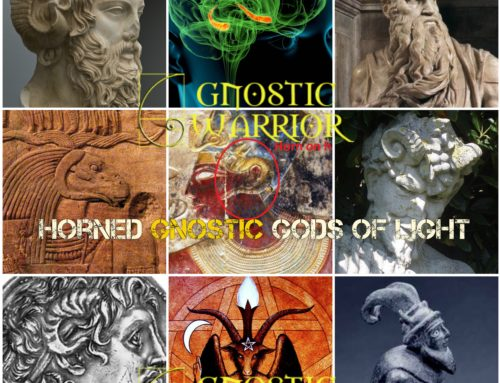 Horns symbolize power, knowledge and initiation into the secret mysteries of Gnosis