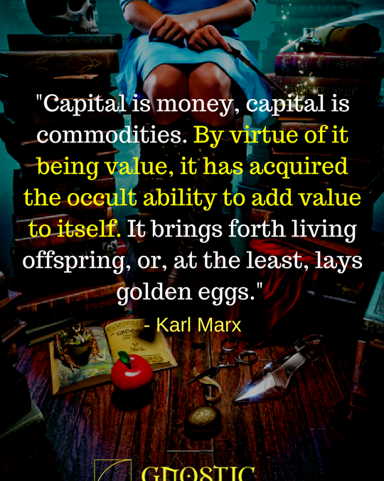 By virtue of it being value, it has acquired the occult ability to add value to itself