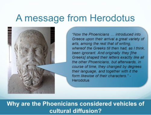 Phoenicians introduced into Greece upon their arrival a great variety of arts, among the rest that of writing