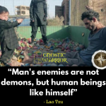 Man's enemies are not demons, but human beings like himself