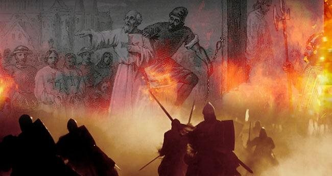 Templar Jacques DeMolay Burnt to Death in the Scaffolding of Notre Dame