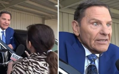 Reporter confronts preacher Kenneth Copeland about calling people demons