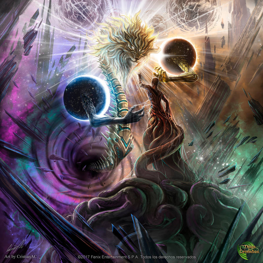 The Demiurge: A Living Organism Intelligently Creating the World Demiurge_by_cristianac