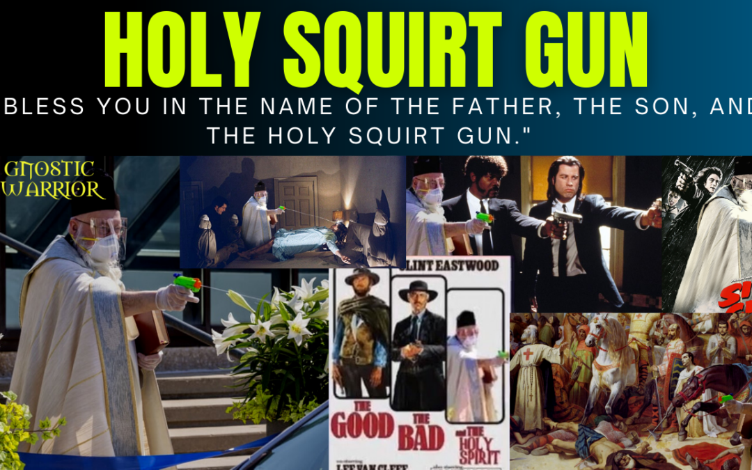 Holy Squirt Gun: Priest Uses Squirt Gun to Spray Holy Water on Faithful During the Pandemic